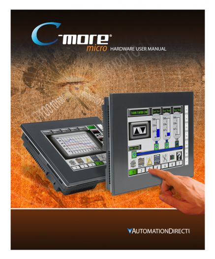 User manual, download only  For use with C-more Micro EA3