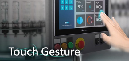 New Feature Announcement – Touch Gesture on Weintek cMT X Series HMI