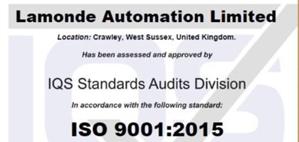 ISO 9001 renewed for another year-April 2020