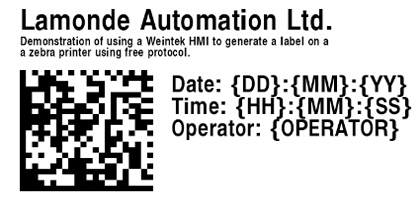 TechTip: Using Weintek HMI to Print a label on a Zebra Printer using Free Protocol