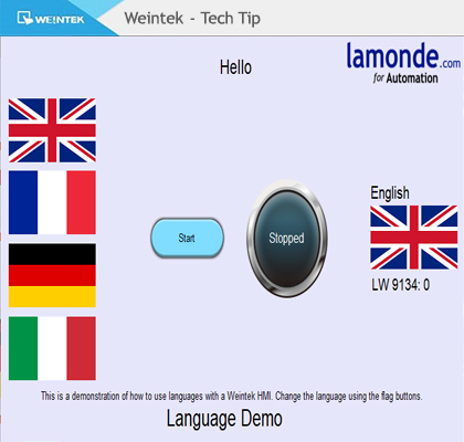Using Languages On Weintek HMI