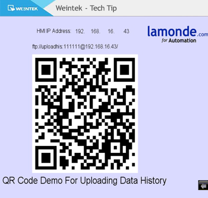 Using a Macro On a Weintek HMI to Generate a QR Code For The History Upload Address